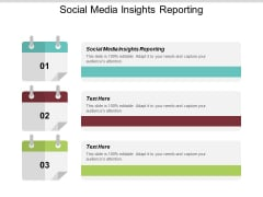 Social Media Insights Reporting Ppt PowerPoint Presentation Portfolio Themes Cpb