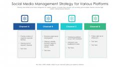 Social Media Management Strategy For Various Platforms Ppt Gallery Mockup PDF