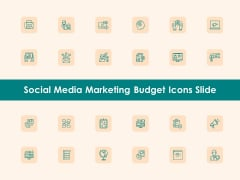 Social Media Marketing Budget Icons Slide Ppt Infographics Background Designs PDF