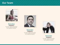 Social Media Marketing Budget Our Team Ppt File Deck PDF