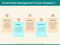 Social Media Marketing Budget Social Media Management Process Develop Ppt Outline Ideas PDF