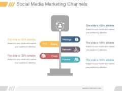 Social Media Marketing Channels 2017 Ppt PowerPoint Presentation Pictures