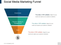 Social Media Marketing Funnel Ppt PowerPoint Presentation Infographic Template Designs