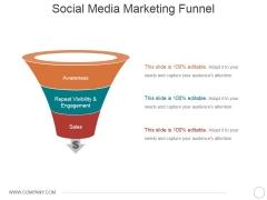 Social Media Marketing Funnel Ppt PowerPoint Presentation Model Master Slide