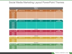 Social Media Marketing Layout Powerpoint Themes