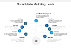 Social Media Marketing Leads Ppt PowerPoint Presentation Visual Aids Gallery Cpb