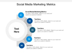 Social Media Marketing Metrics Ppt PowerPoint Presentation Gallery Aids Cpb