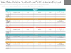 Social Media Marketing Plan Chart Powerpoint Slide Designs Download