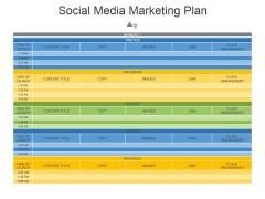 Social Media Marketing Plan Ppt PowerPoint Presentation Shapes