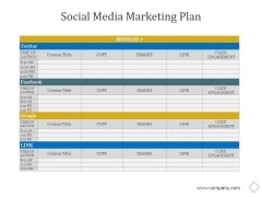 Social Media Marketing Plan Ppt PowerPoint Presentation Styles