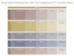 Social Media Marketing Plan With User Engagement Ppt Examples Slides