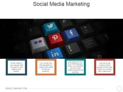 Social Media Marketing Ppt PowerPoint Presentation Portfolio Infographics