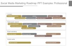 Social Media Marketing Roadmap Ppt Examples Professional