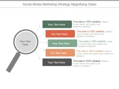 Social Media Marketing Strategy Magnifying Glass Ppt PowerPoint Presentation Slide Download