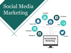 Social Media Marketing Template 1 Ppt PowerPoint Presentation Diagram Lists
