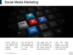 Social Media Marketing Template 1 Ppt PowerPoint Presentation Ideas Graphic Images
