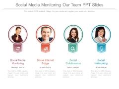 Social Media Monitoring Our Team Ppt Slides