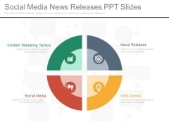 Social Media News Releases Ppt Slides