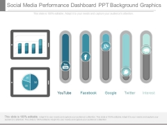 Social Media Performance Dashboard Ppt Background Graphics