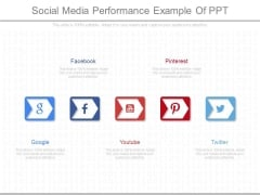 Social Media Performance Example Of Ppt