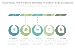 Social Media Plan For Brand Marketing Powerpoint Slide Background