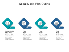 Social Media Plan Outline Ppt PowerPoint Presentation Show Cpb