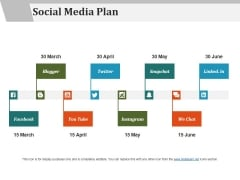 Social Media Plan Ppt PowerPoint Presentation Styles Example