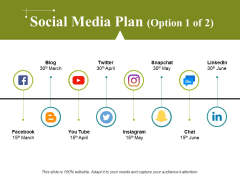 Social Media Plan Template 1 Ppt PowerPoint Presentation Ideas Graphics Pictures