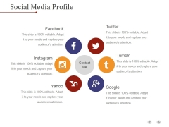 Social Media Profile Ppt PowerPoint Presentation Slide Download