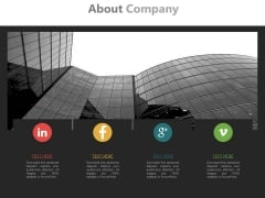 Social Media Profiles Of Company Powerpoint Slides