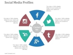 Social Media Profiles Ppt PowerPoint Presentation Graphics