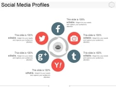 Social Media Profiles Ppt PowerPoint Presentation Inspiration Designs