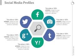 Social Media Profiles Ppt PowerPoint Presentation Slides