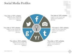 Social Media Profiles Ppt PowerPoint Presentation Topics