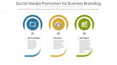 Social Media Promotion For Business Branding Ppt Infographics Rules PDF