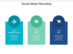 Social Media Recruiting Ppt PowerPoint Presentation Pictures Brochure