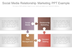 Social Media Relationship Marketing Ppt Example