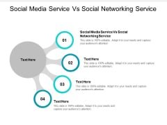 Social Media Service Vs Social Networking Service Ppt PowerPoint Presentation Show Design Inspiration Cpb Pdf