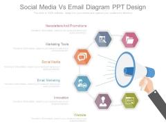 Social Media Vs Email Diagram Ppt Design