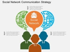 Social Network Communication Strategy Powerpoint Template