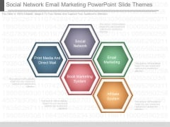 Social Network Email Marketing Powerpoint Slide Themes