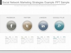 Social Network Marketing Strategies Example Ppt Sample