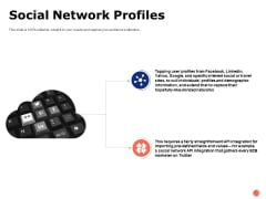 Social Network Profiles Ppt PowerPoint Presentation Portfolio Format Ideas