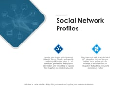 Social Network Profiles Ppt PowerPoint Presentation Show Samples