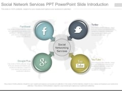 Social Network Services Ppt Powerpoint Slide Introduction