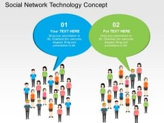 Social Network Technology Concept Powerpoint Templates