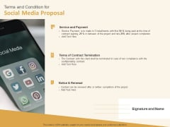 Social Network Terms And Condition For Social Media Proposal Cover Letter Ppt Icon Graphics Tutorials PDF