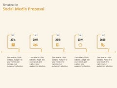 Social Network Timeline For Social Media Proposal 2016 To 2020 Ppt Icon Graphic Tips PDF