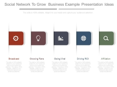 Social Network To Grow Business Example Presentation Ideas