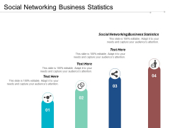Social Networking Business Statistics Ppt PowerPoint Presentation Model Cpb